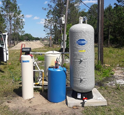 Well Water Purification, chlorination system
