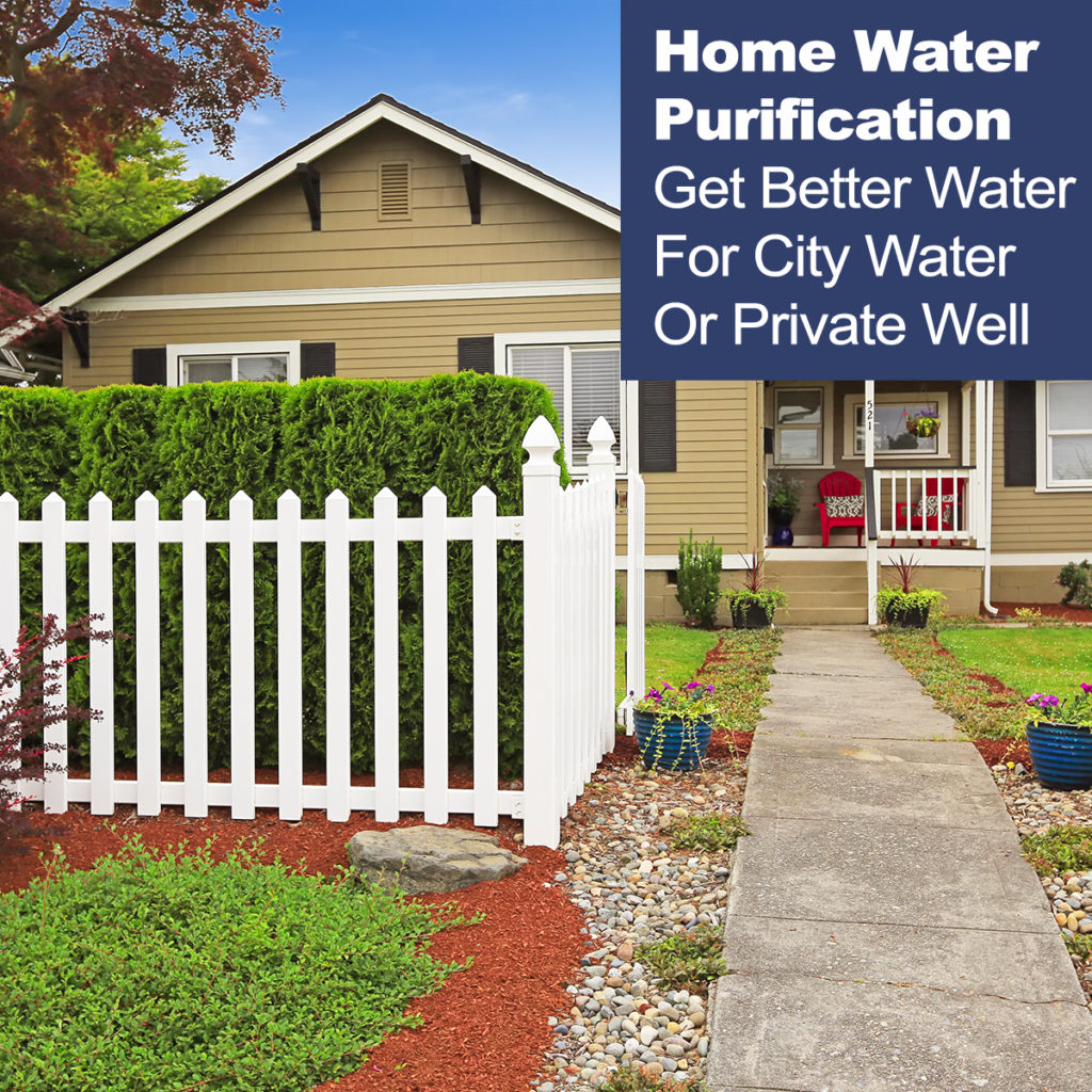 home with water treatment products
